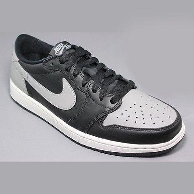 on sale 79de6 11239 Nike Air Jordan 1 Retro Low OG Mens 705329-003 Shadow Black Grey Shoes Size  11.5