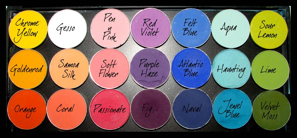 You don't have to be a fan of #MAC makeup to appreciate the sorting of eyeshadow shades by palette. Great ideas on shades to choose and tips to organize them.