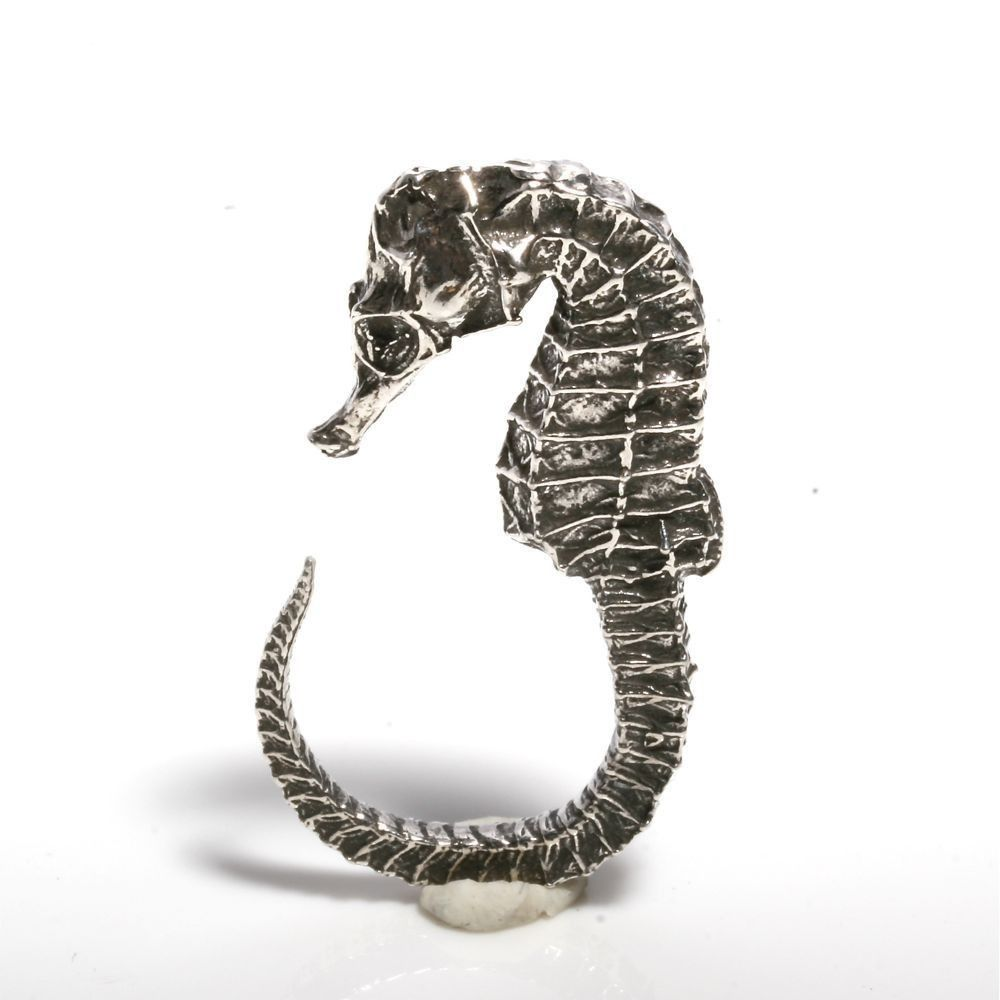 Sterling Silver Seahorse Ring by Zulasurfing
