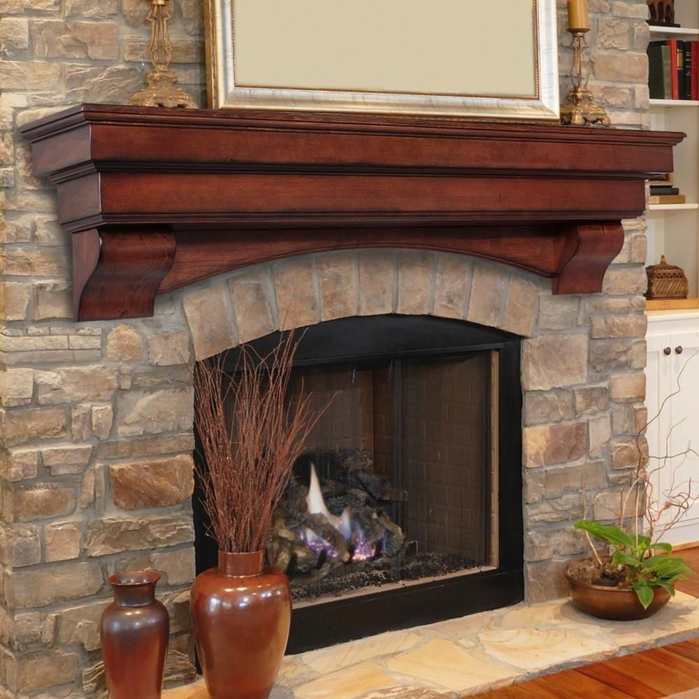 The Auburn 5 Ft Cherry Distressed Cap Shelf Mantel 495 60 70