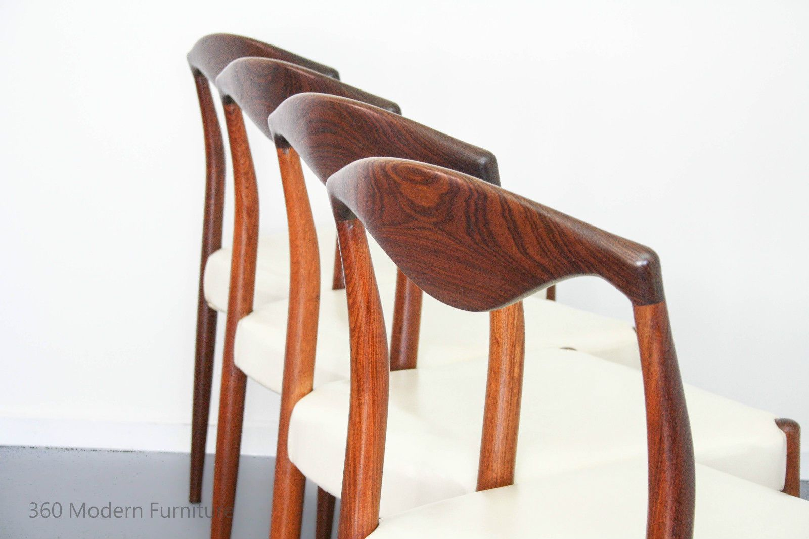 Fab RARE 4 Dining Chairs Spadeback Rosewood Vintage Retro