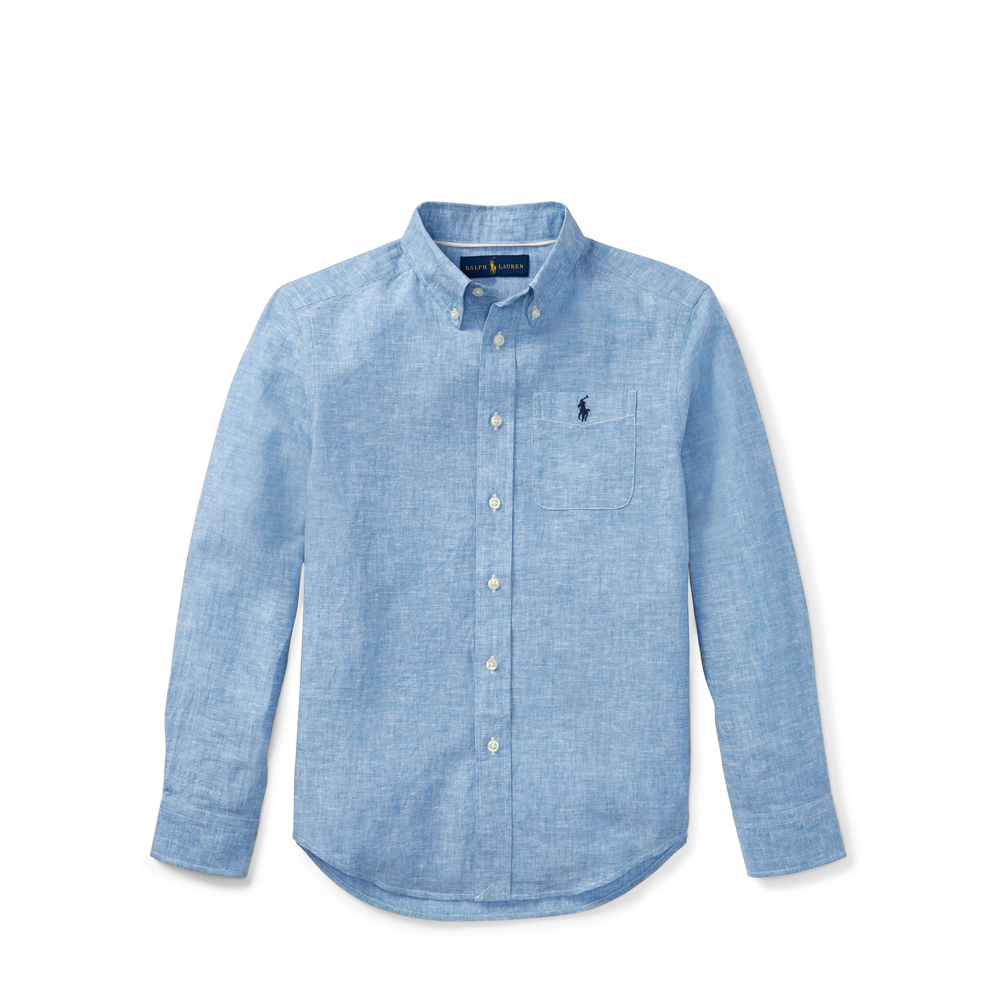 Linen-Cotton-Chambray Shirt - Shirts Boys 6-14 Years - Ralph Lauren
