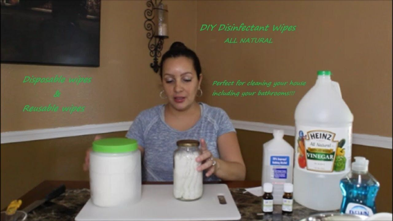 DIY Natural Disinfectant Wipes For Cleaning Chemical Free ...