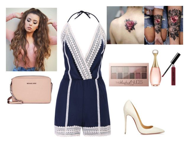 """""""Untitled #178"""" by misschristina28 ❤ liked on Polyvore featuring Maybelline, Christian Dior, Michael Kors, Christian Louboutin and Bobbi Brown Cosmetics"""