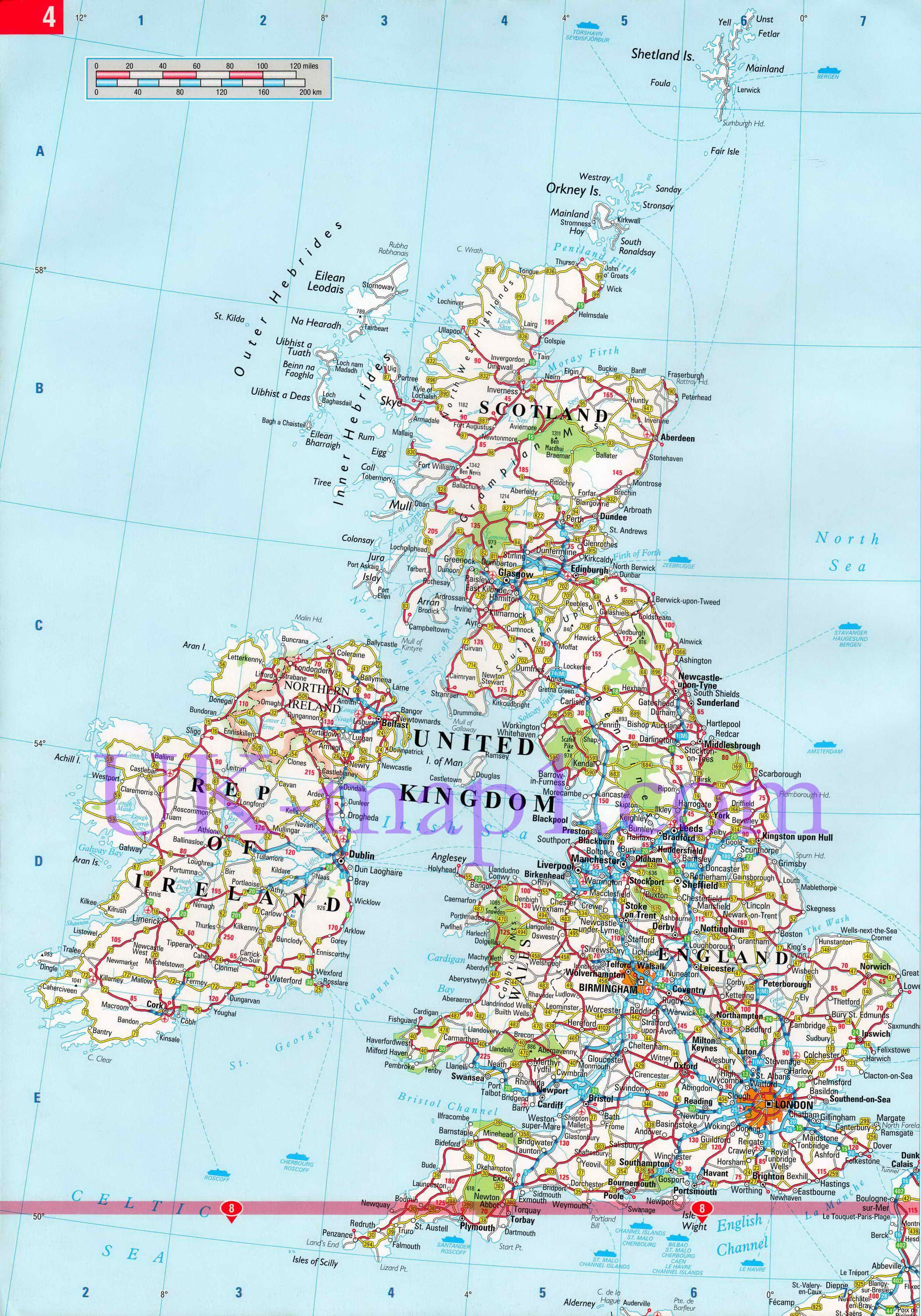 Map Of Uk Roads.Map Of Uk Road Map Of Uk Free Download Detailed Roads Map