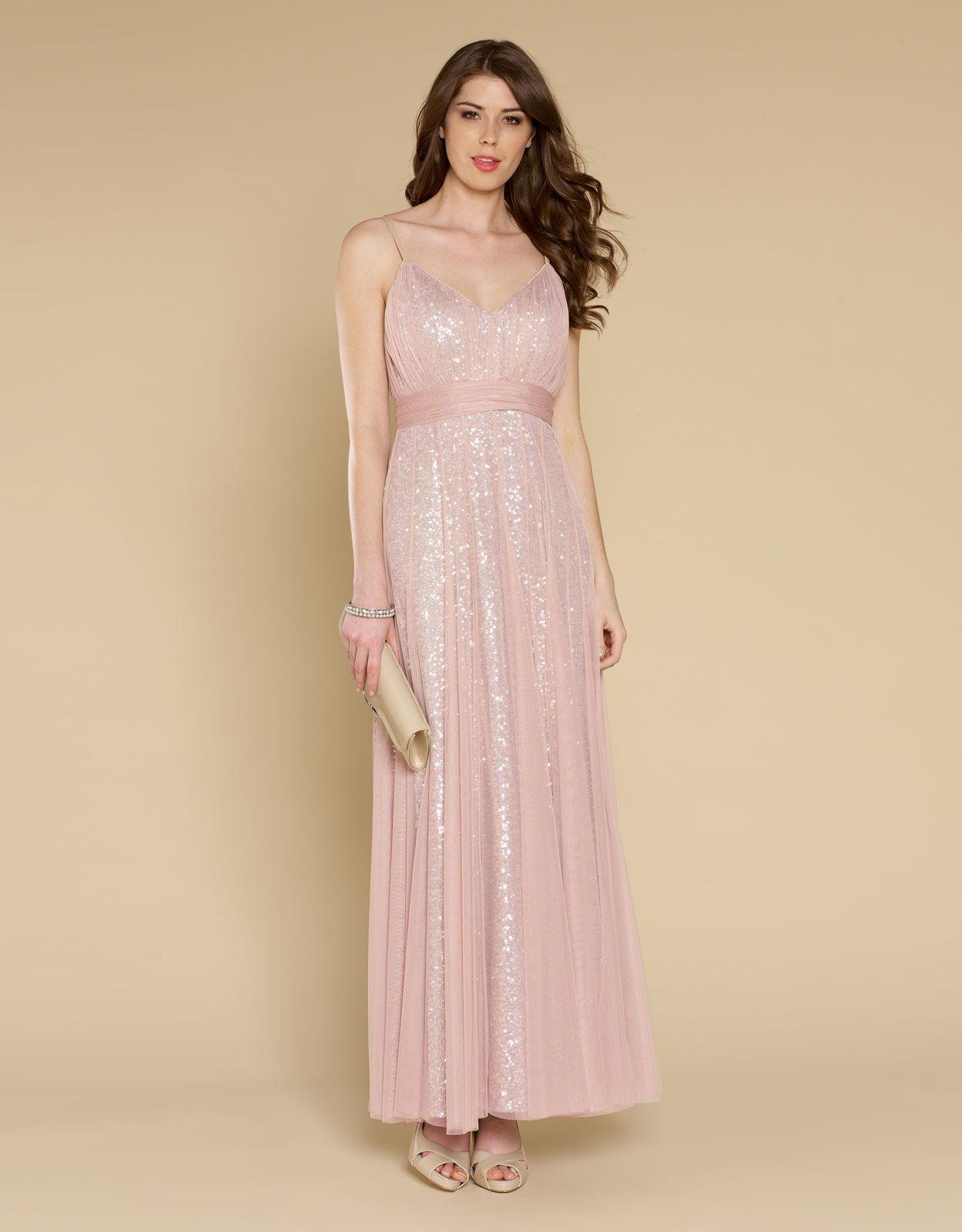 Kate Sequin Maxi Dress | Nude | Monsoon | Wedding Bridesmaids ...