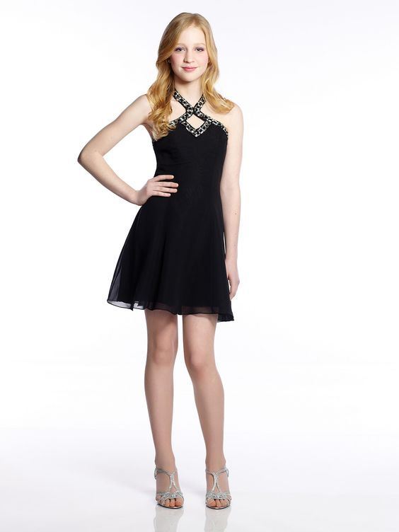 7f68178ba4962 Abiye Elbise Modelleri Siyah Kısa Çapraz Yaka Tül Etek Boyundan Taş  İşlemeli Kadın Elbiseleri, Balo