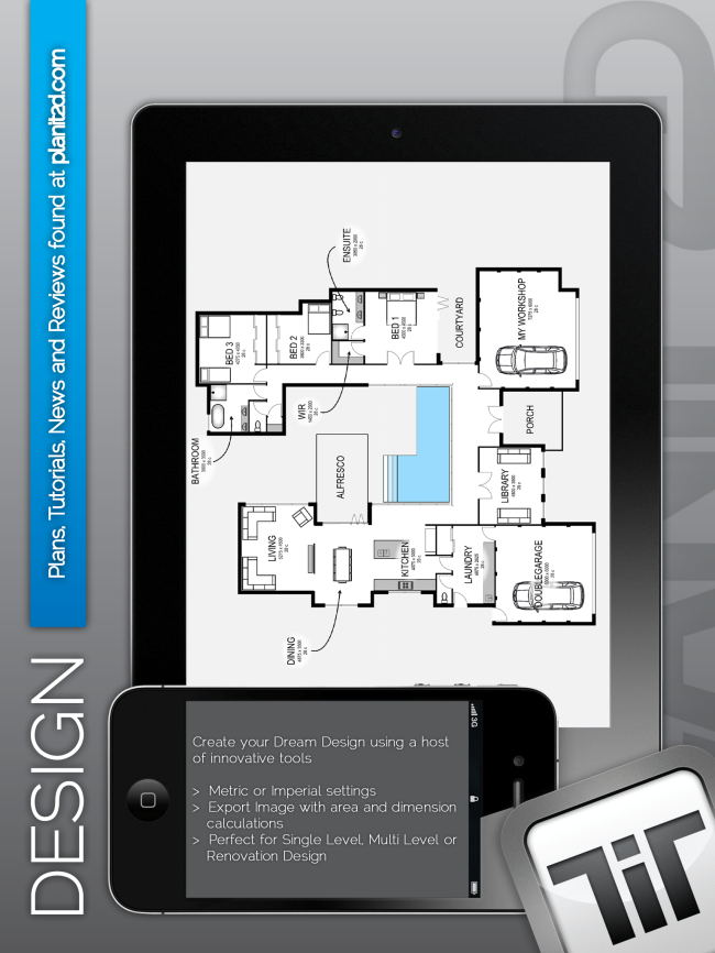 Design Your Own Floor Plan With The Planit2d App For Iphone Or Ipad |  Designhunter   Architecture U0026 Design Blog