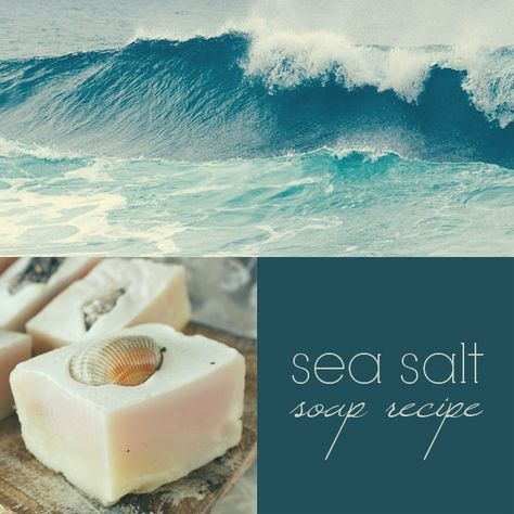 Sea Salt Cold Process Soap Recipe: sea salts not only contain many skin nourishing minerals, but are also known for drawing toxins out of the body and reducing inflammation. They help relax the muscles and calm the nerves, while gently cleansing and exfoliating. #homemadesoap