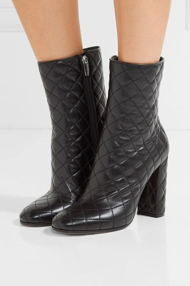 Gianvito Rossi Quilted Leather Booties