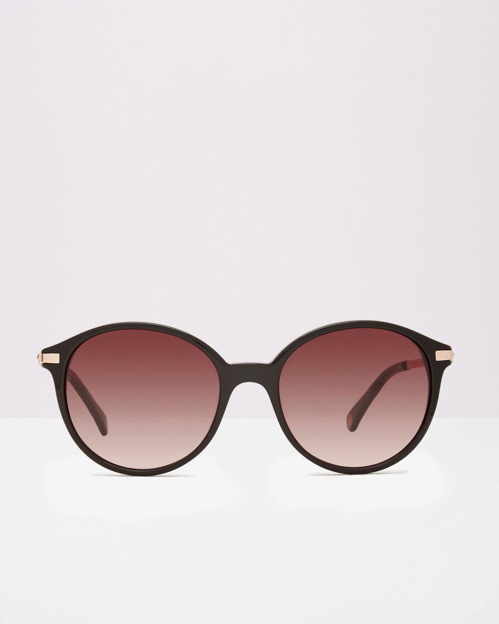 dfa29e179 Ted Baker Round metallic sunglasses Black