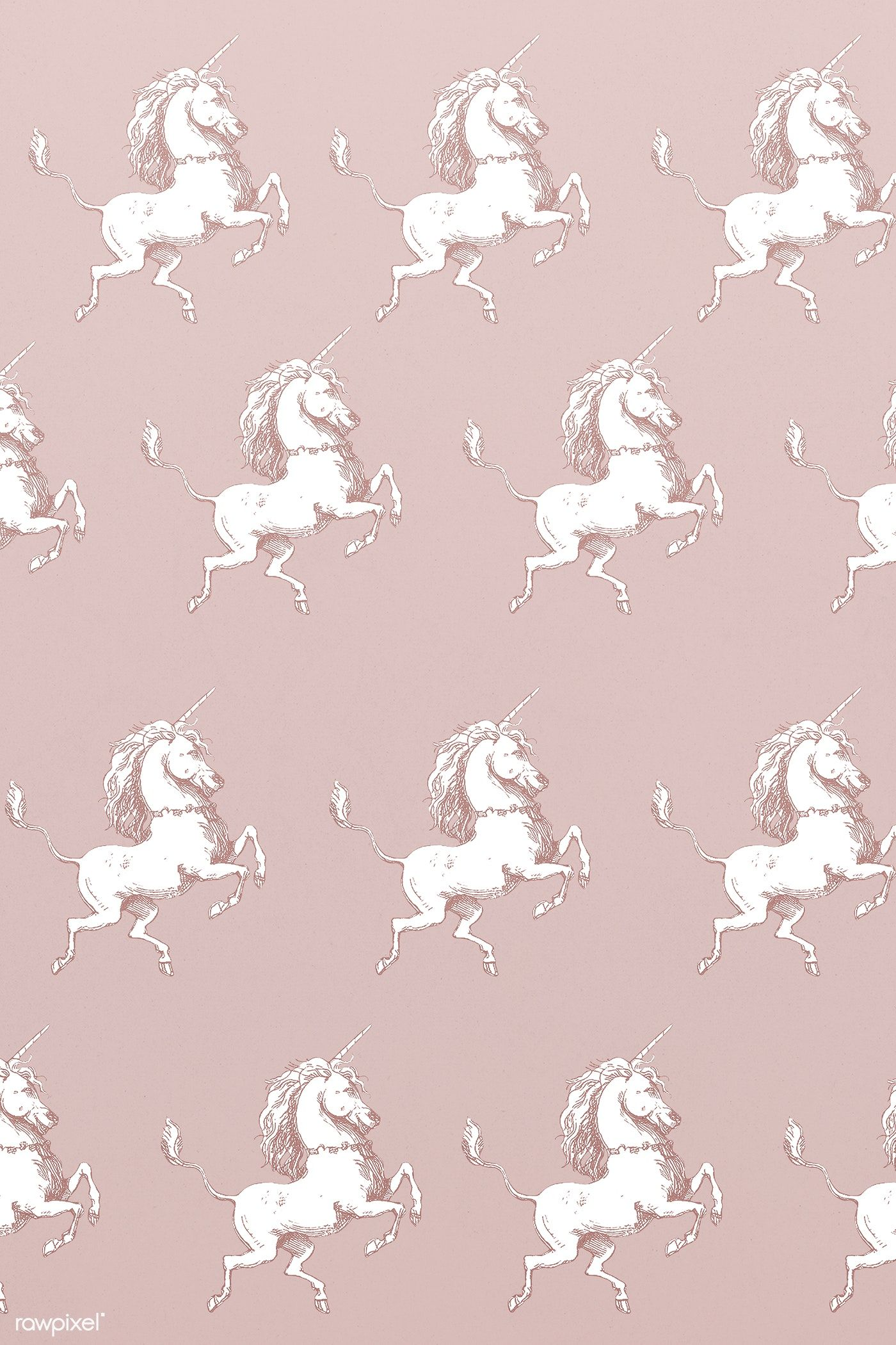 Vintage Unicorn Illustration Seamless Patterned Wallpaper Premium Image By Rawpixel Com Nap ในป 2020