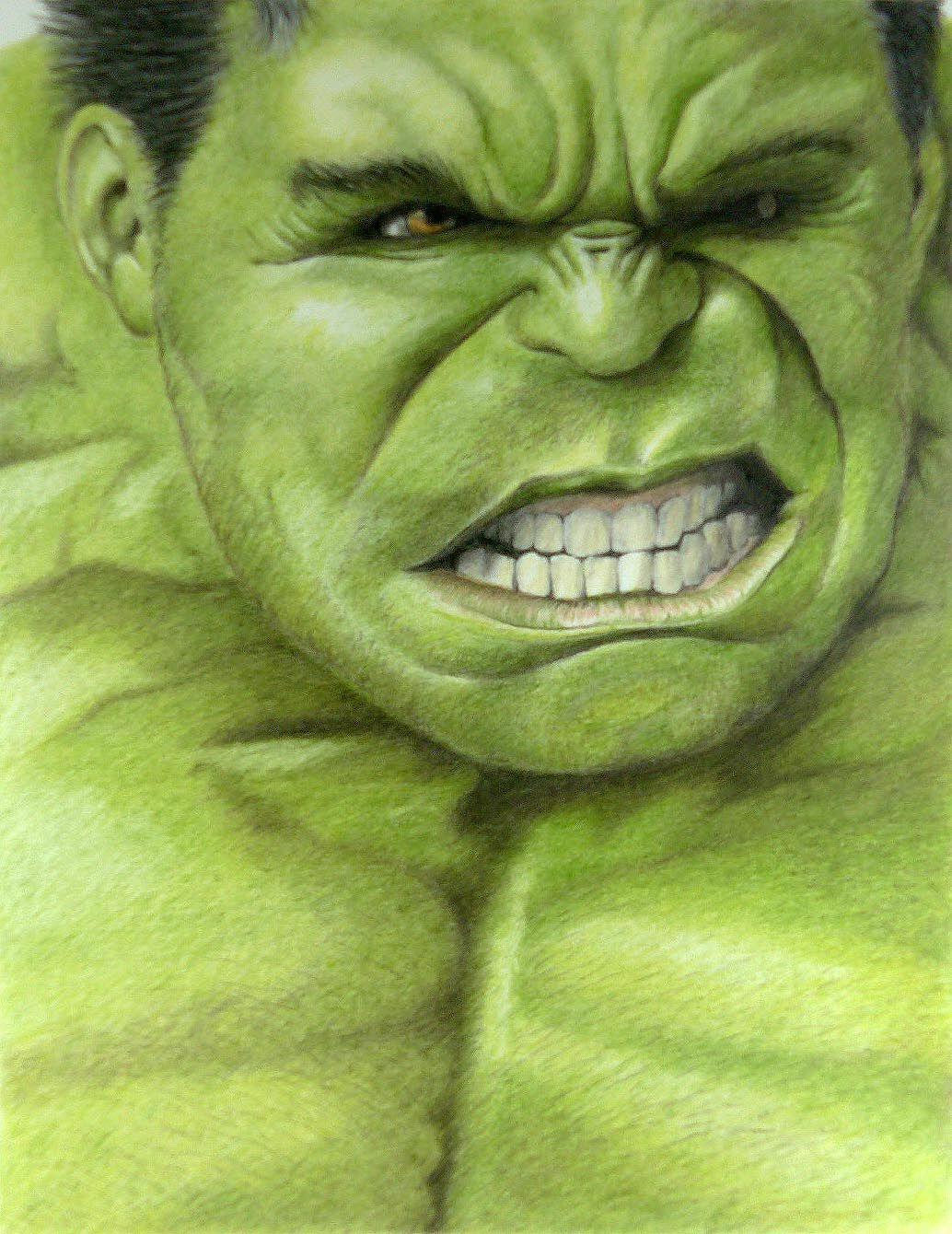 Hulk Age Of Ultron Coloured Pencil Drawing Drawings Character Drawing Character Portraits