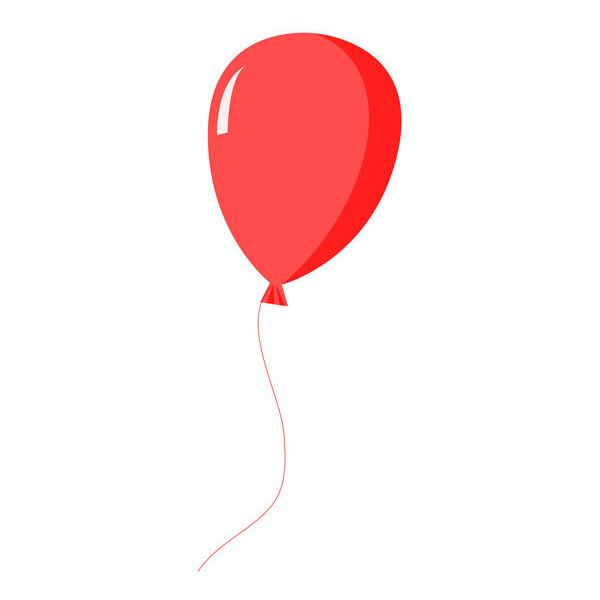 red balloon clipart via polyvore featuring balloons my polyvore