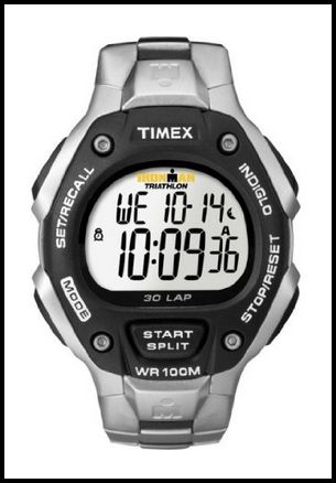 Timex Men s T5H971 Ironman Traditional 30-Lap Stainless Steel Bracelet Watch 5f21273f619