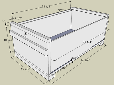 Versatile Top Bar Hive That Has Straight Sides So It Can Take Deep Frames  As Well As Hold Langstroth Boxes On Top.