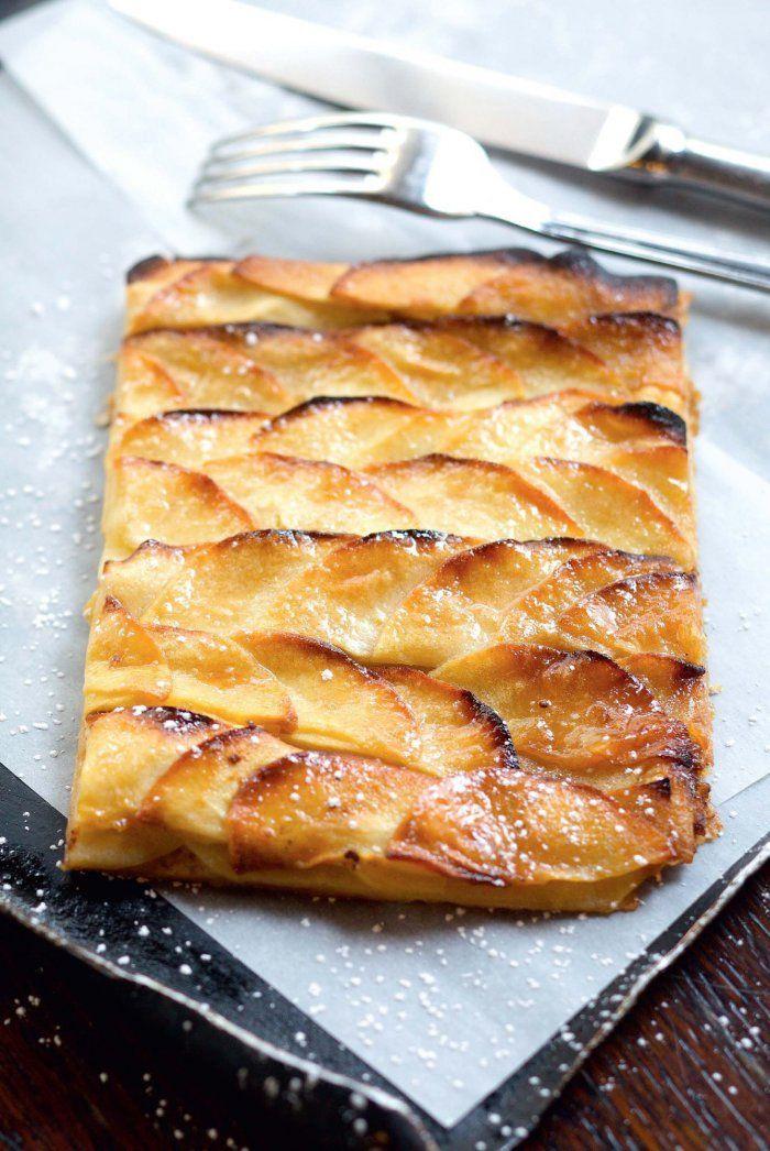 Tarte fine aux pommes caramélisées