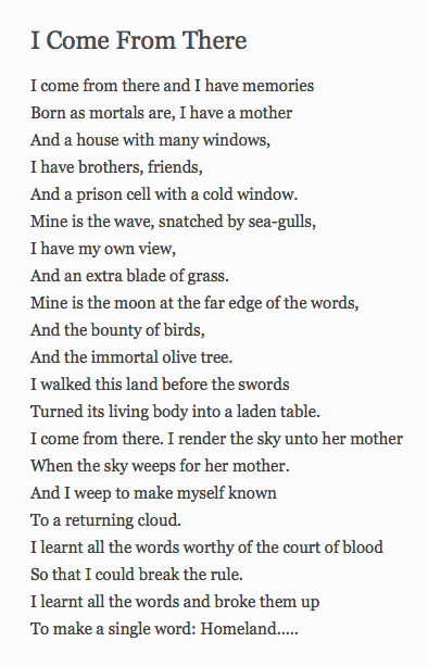 Mahmoud Darwish Poems 5