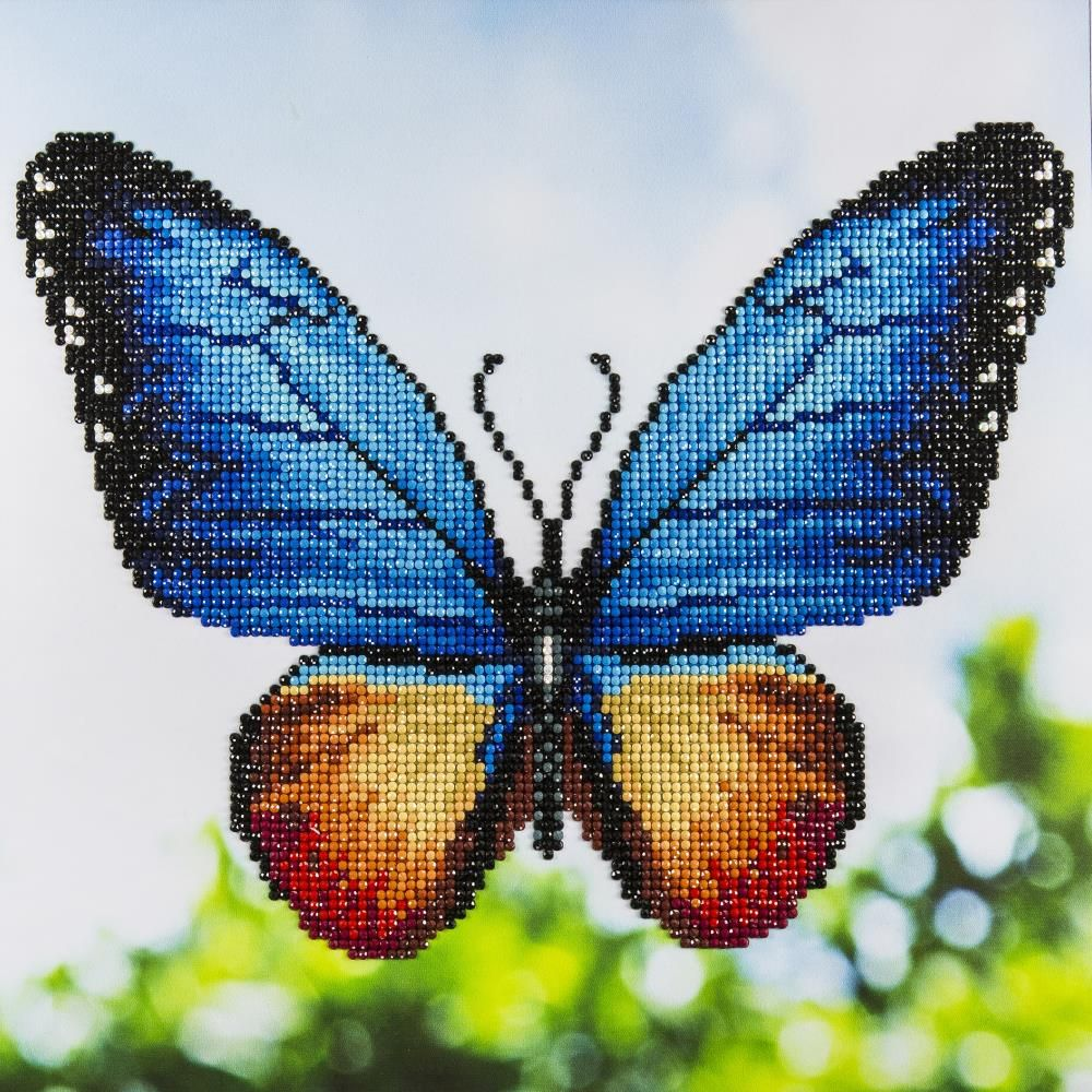 Butterfly diamond art intermediate kit 12x12 1799