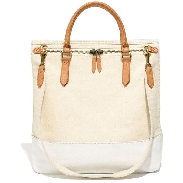 a5fec8103523 MADEWELL The Canvas Zip Tote (€96) found on Polyvore