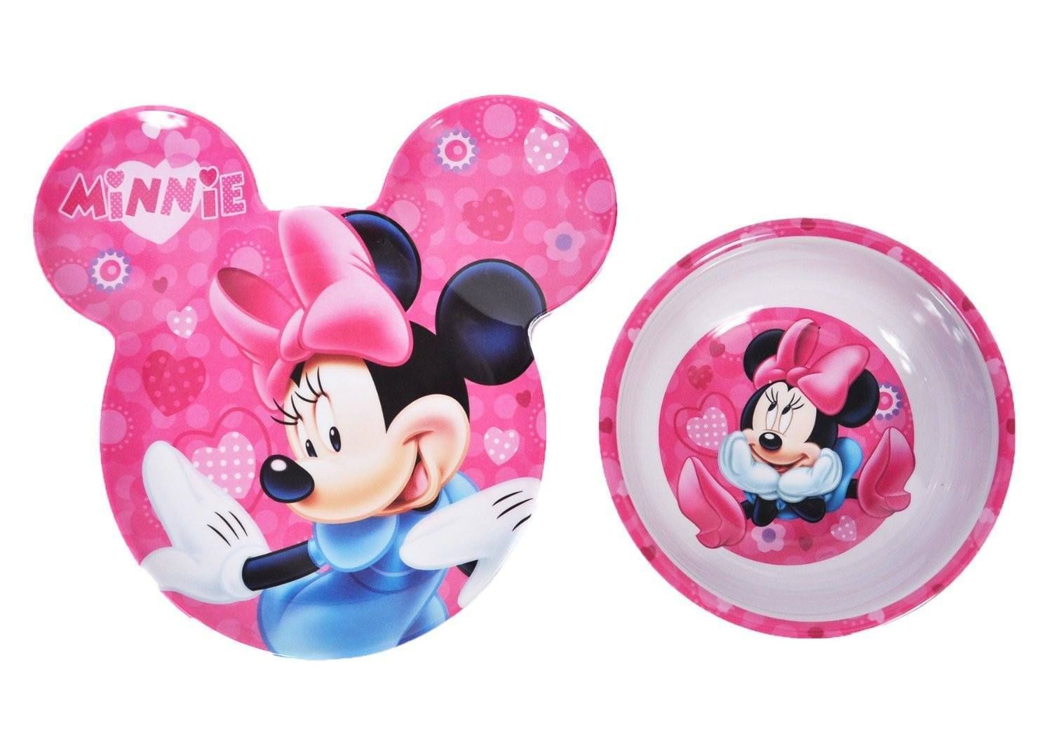 Minnie Mouse Cereal Bowl and Plate Set Break Resistant BPA-Free 2 Pack Dishes  sc 1 st  Pinterest & Mickey Mouse Cereal Bowl and Plate Set | Mickey \u0026 Minnie Mouse ...