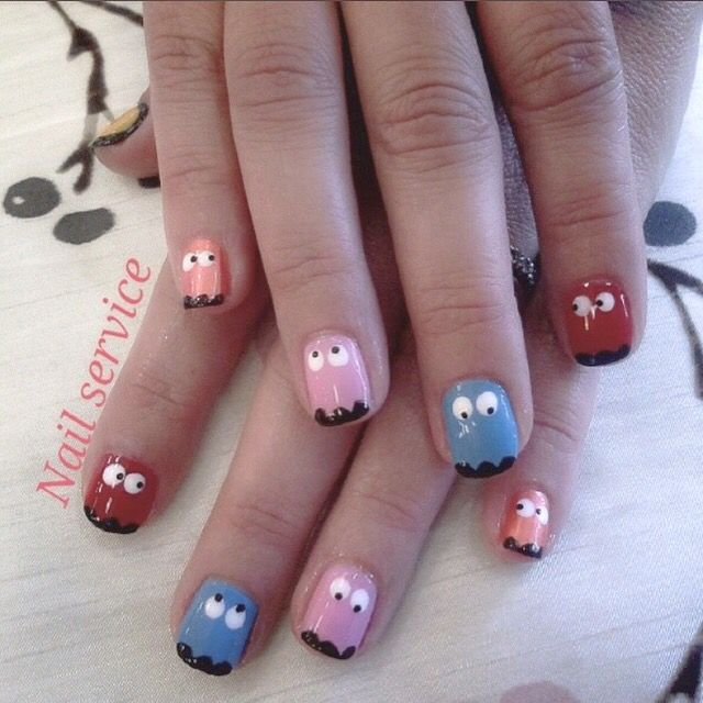 Fun nail design for both kids and adults on event such as birthday ...