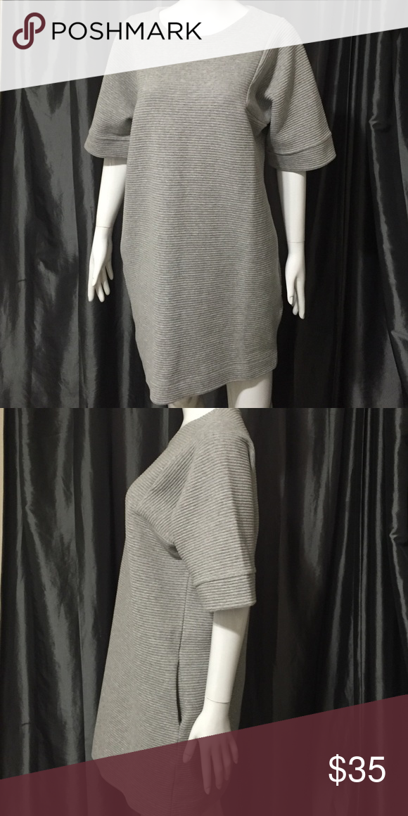 Banana Republic ribbed sweatshirt dress Medium Super soft and comfy. Side pockets. Ribbed. Loose fitting. Banana Republic Dresses