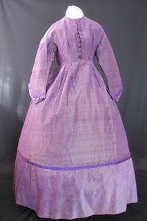 Pretty Purple Mid to Late 1860's Dress