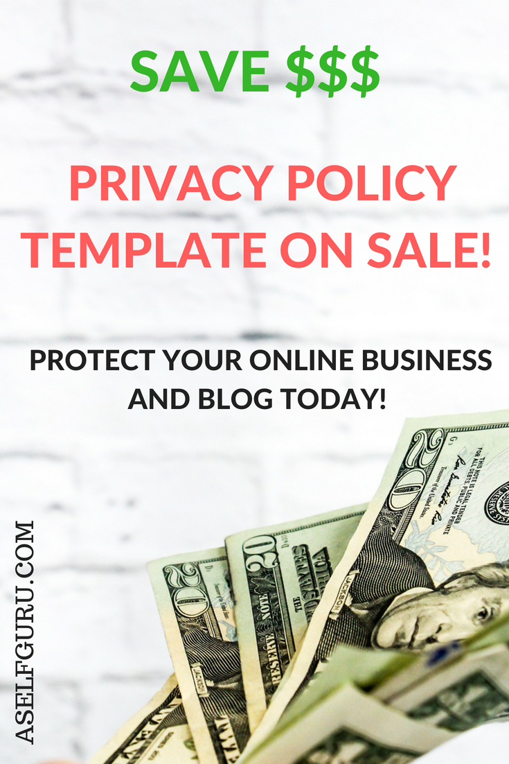 protect your online business blog and website with this privacy policy template drafted by an