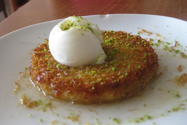 Flavors Of The Sun My New Favorite Dessert Kunefe Lebanese Desserts Turkish Recipes Food