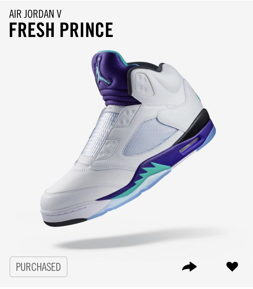 new concept 92532 abfba AIR JORDAN Retro 5 V NRG FRESH PRINCE GRAPE BEL AIR SZ 10.5 ORDER CONFIRMED   fashion  clothing  shoes  accessories  mensshoes  athleticshoes  ad (ebay  link)