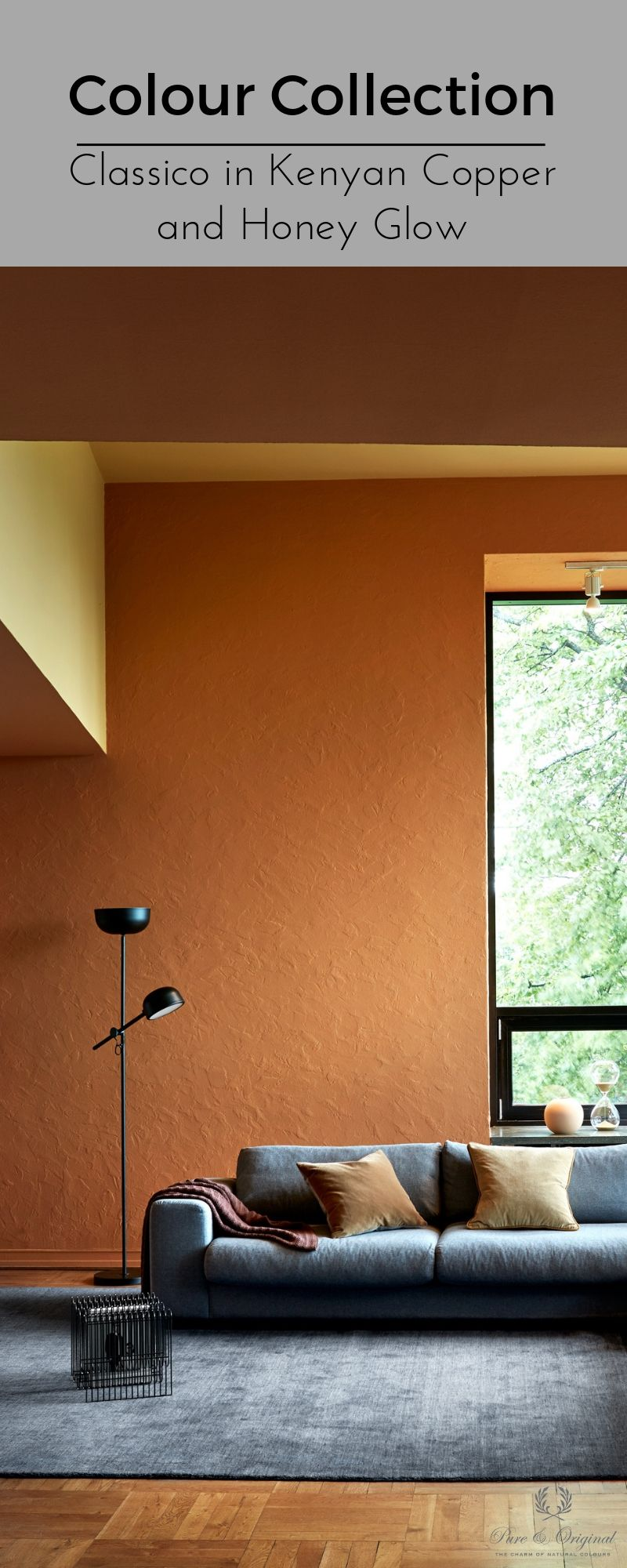 On The Walls The Classico Paint In The Colour Kenyan Copper And Honey Glow Design Warm Colors Color Collection
