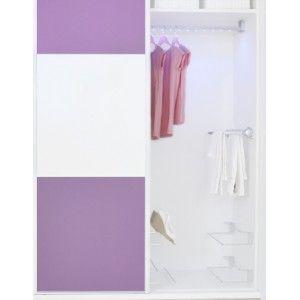 Armario a medida entre 110 y 130 cm. Puedes elegir el color y los materiales que más se adapten a tu hogar. En blanco, cerezo, haya, etc.  #armario #decoración #hogar #home
