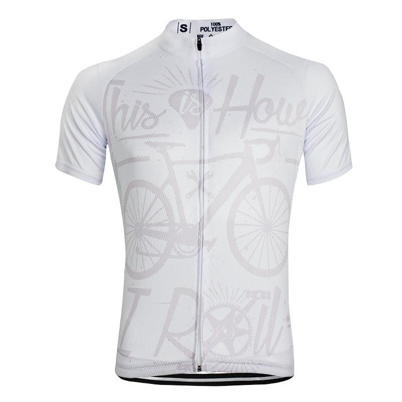 The Men s This is How I Roll White Cycling Jersey is made from high-quality b7b54031a
