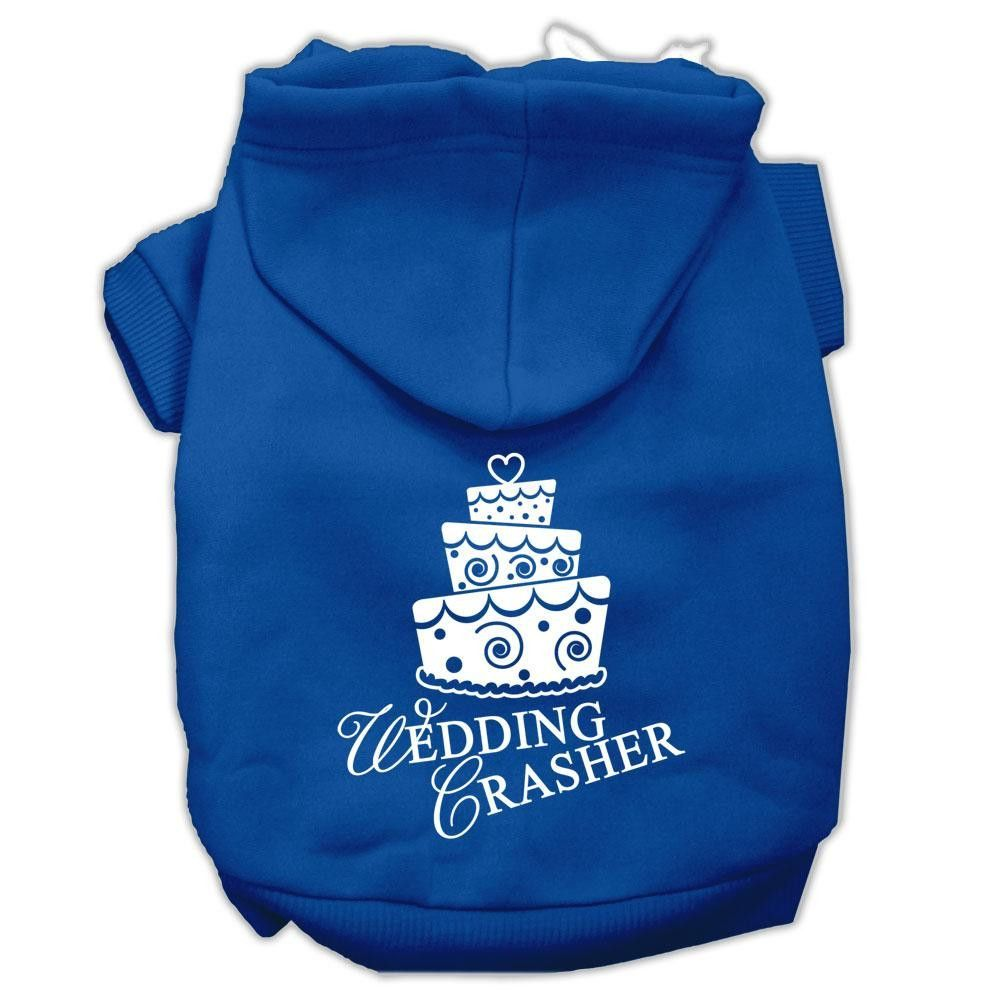 Wedding Crasher Screen Print Pet Hoodies Blue Size XS (8)