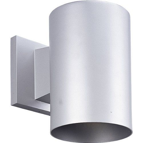 Progress Lighting P5674-82 1-Light 5-Inch Wall Cylinder , Metallic Gray by Progress Lighting. $57.95. From the Manufacturer                5-Inch cylinder with heavy duty aluminum construction and die cast wall bracket. Sleek design offers a superior low-profile option for lighting building exteriors. Powder coated finish. UL listed for wet locations. Metallic Gray 5-Inch wall cylinder 1-Light. Uses (1) 75-Watt PAR-30 or BR-30 bulb 5-Inch Width by 7-1/4-Inch Height May also...