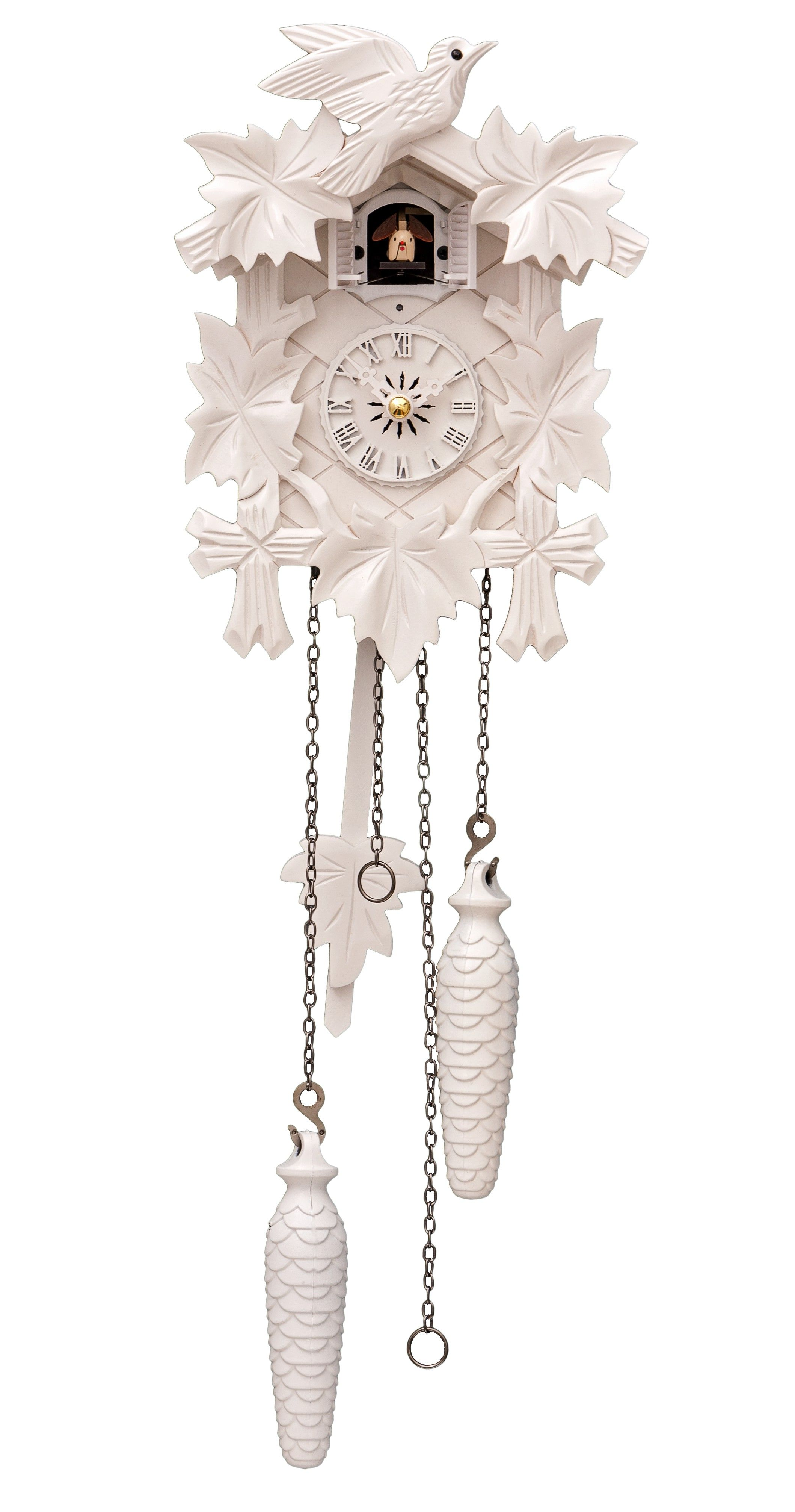 Cuckoo Clock Five Leaves Bird 1 Day Running Time Modern Cuckoo Clocks Cuckoo Clock Clock