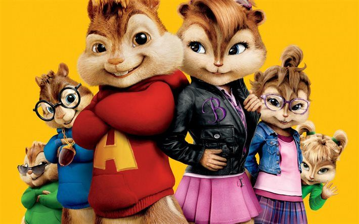 Download wallpapers Alvin and the Chipmunks, 3D, chipmunks