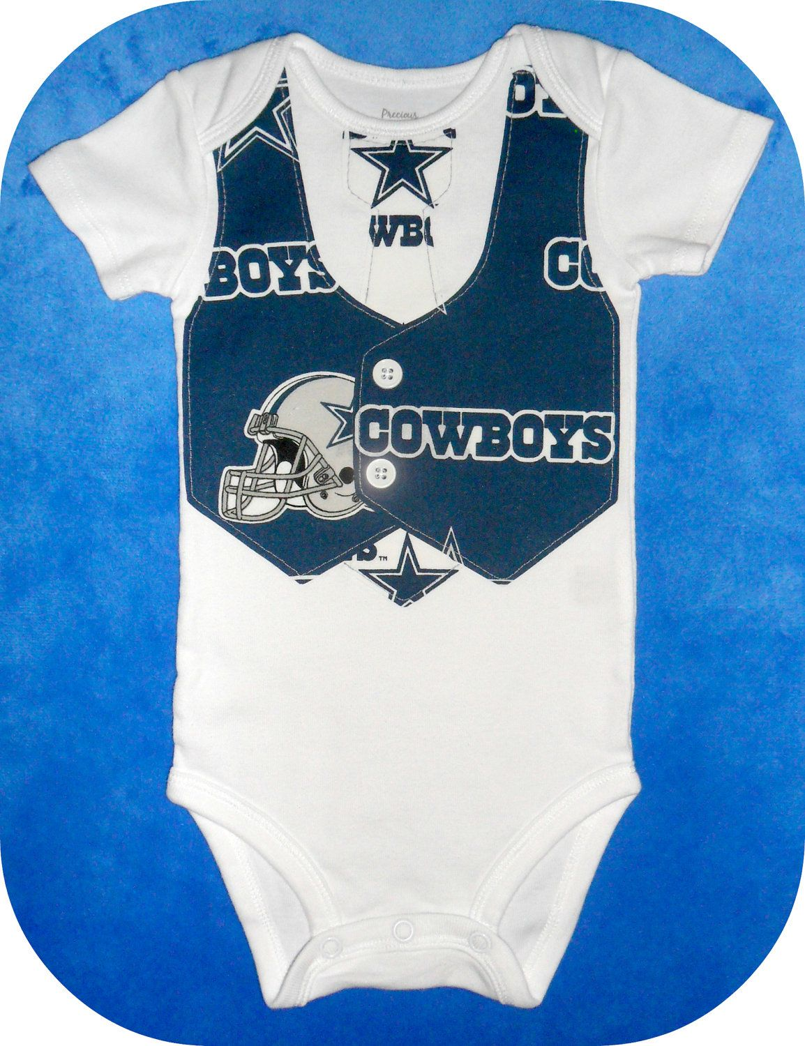 NFL Football Team Vest   Tie Baby Onesie or Toddler Shirt with Dallas  Cowboys...or CHOOSE your TEAM.  19.00 5bb180f73