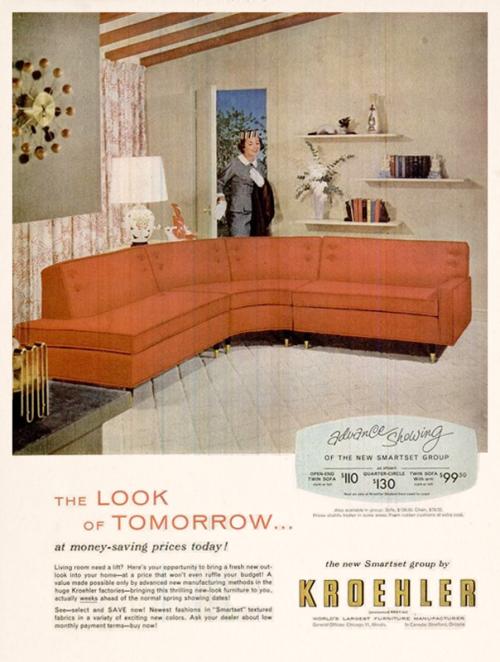 dandyads kroehler furniture 1956 add it up furniture mcm rh pinterest com