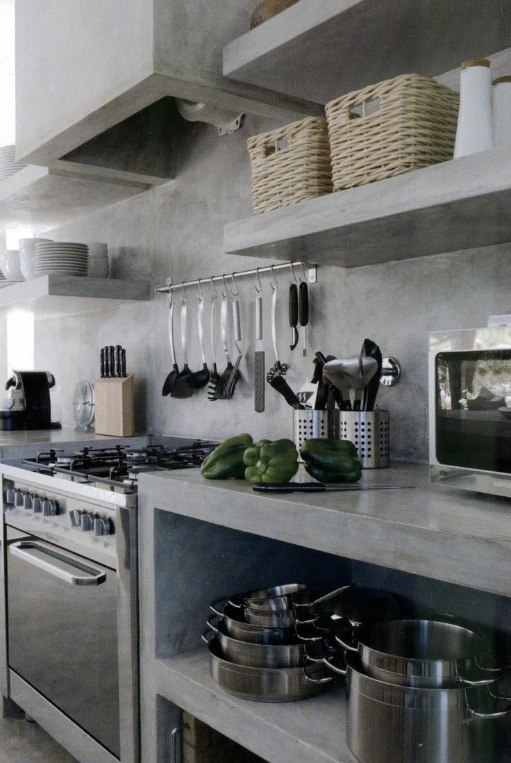 LOVE OR NOT: Industrial kitchens | Cemento pulido, Decoración de ...