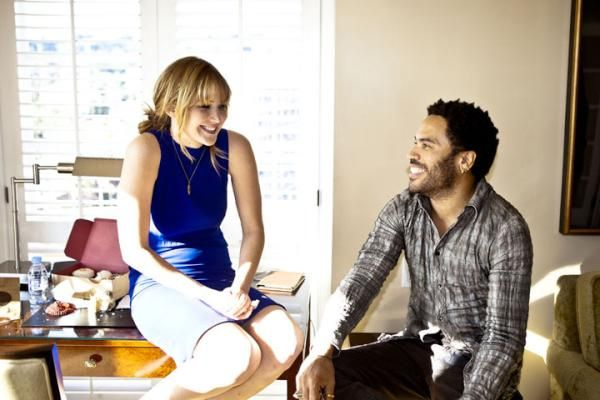 Jennifer Lawrence Y Lenny Kravitz The Hunger Games Pinterest