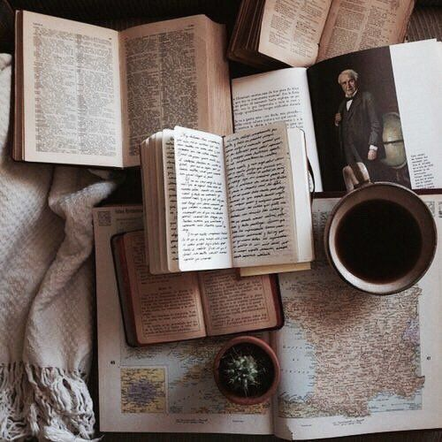 book, coffee, vintage