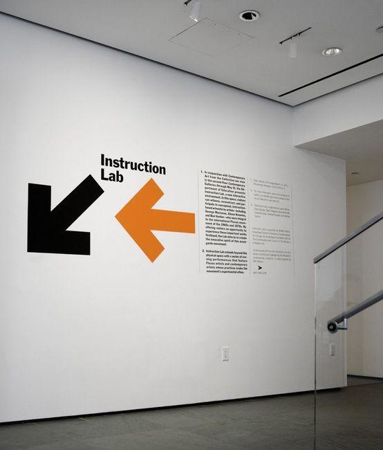 Moma Design Studio Instruction Lab Environmental Graphic Design Signage Design Wayfinding Design