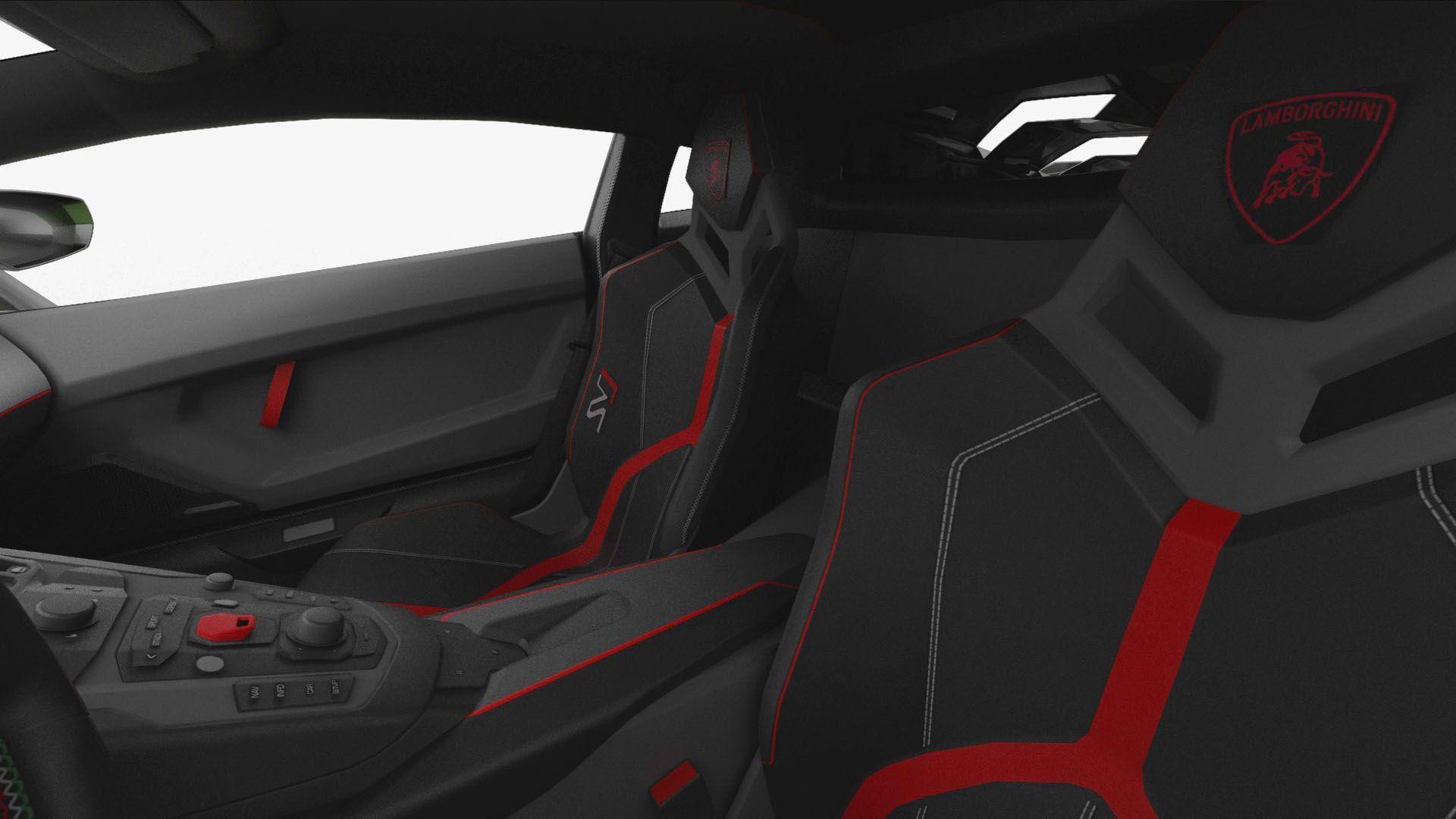 Lamborghini Aventador Svj 2019 Hq Interior Unity3d Interior