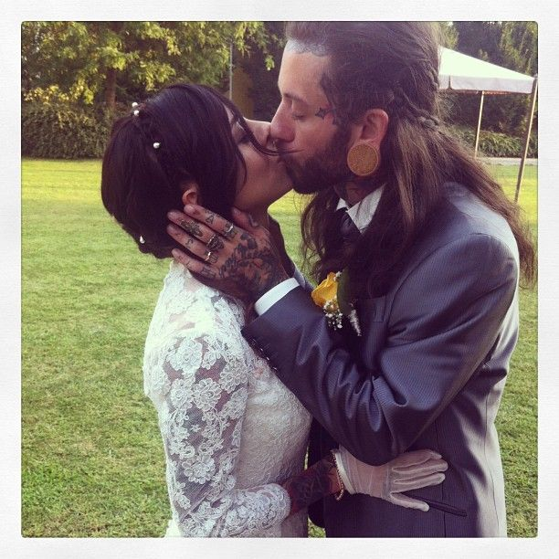 Gogo Blackwater (Zombie Gogo) and his brand new husband (wedding)