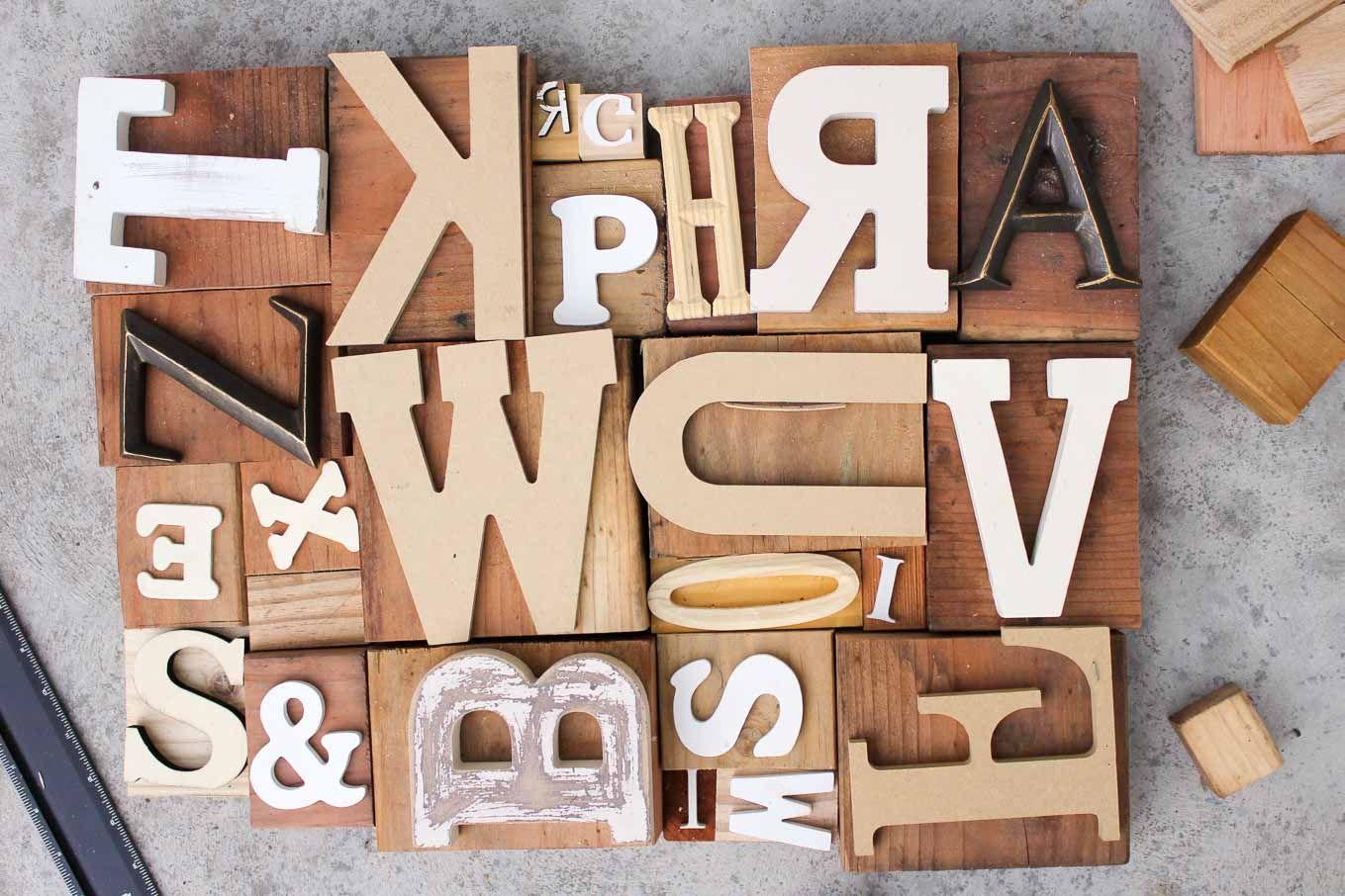 Diy art idea with faux letterpress print blocks vintage diy art idea with faux letterpress print blocks solutioingenieria Images