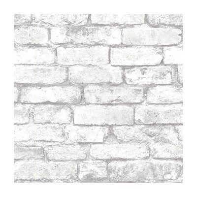 Provincial Wallcoverings 2604 21261 Brickwork Light Grey Exposed Brick Texture Wallpaper Removable Brick Wallpaper White Brick Wallpaper Brick Effect Wallpaper