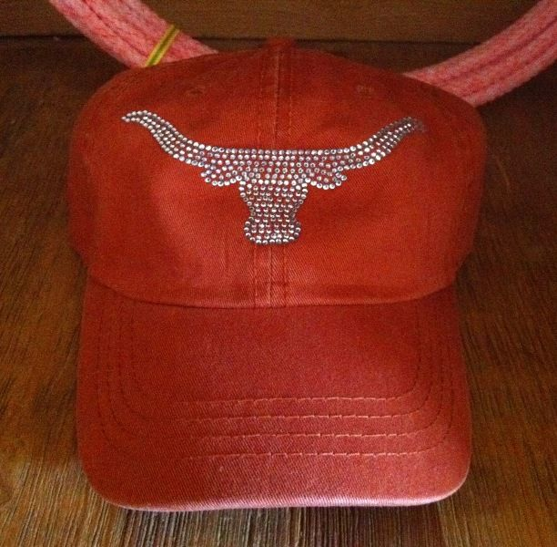 Longhorn Bling Hat BURNT $18.00