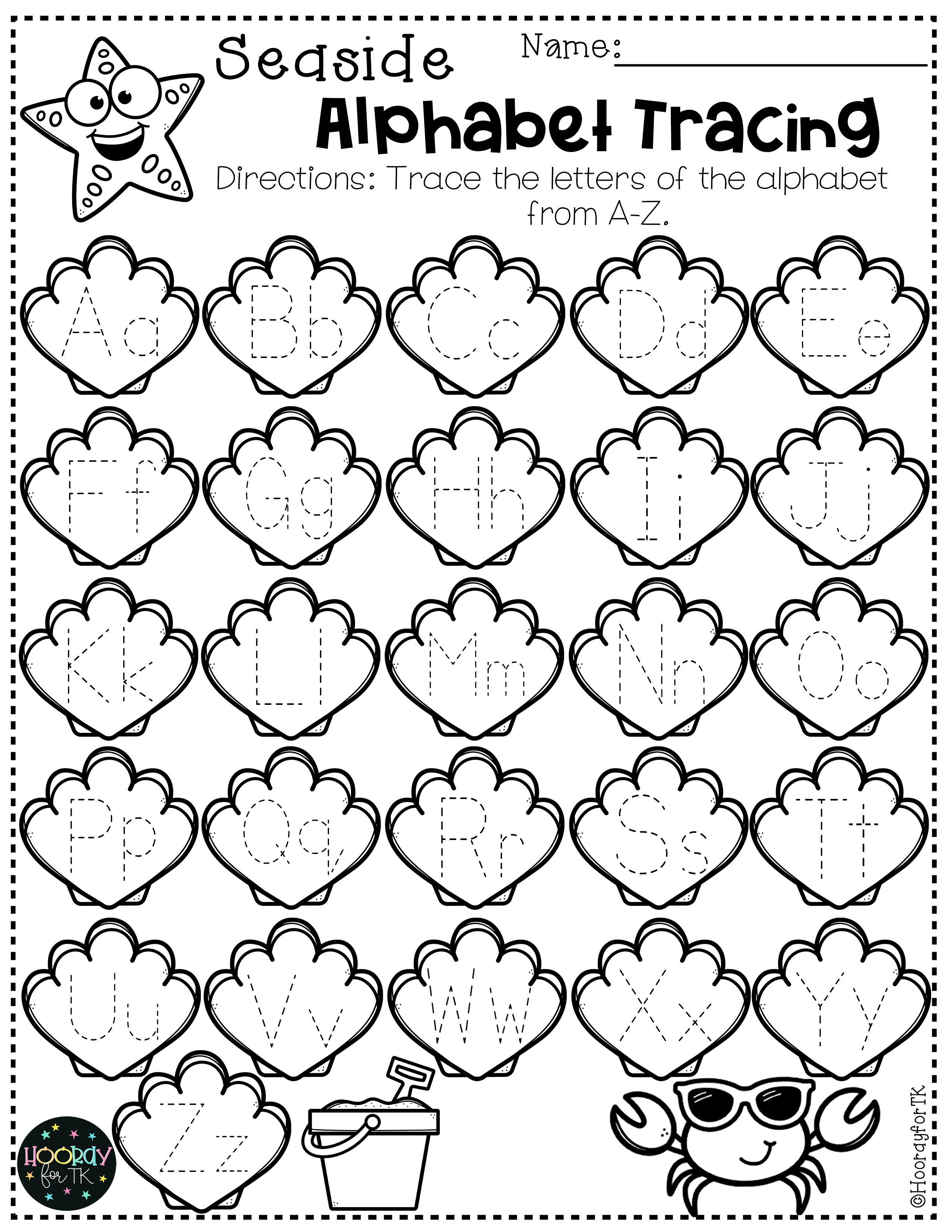 Transitional Kindergarten Summer Worksheets In